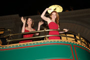 "Rachel Boston and Sarah Drew attend the VIP opening night of the life-sized gingerbread house in celebration of ""It's A Wonderful Lifetime"" at The Grove on November 14, 2018 in Los Angeles, California."