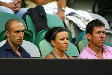 Chris Judd Brett Ratten Celebrities At The 2011 Australian Open