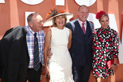Gerry Harvey, Katie Paige, Nacho Figueras and Delfina Blaquier pose at the Magic Millions Raceday at the Gold Coast Turf Club on January 12, 2019 in Gold Coast, Australia.