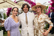 Abbey Gelmi, Nacho Figueras and Delfina Blaquier attends the Moet Marquee Magic Millions Raceday at the Gold Coast Turf Club on January 11, 2020 in Gold Coast, Australia.