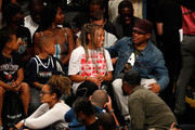 Sway and Kiyomi Calloway attend the BIG3 Championship at the Barclays Center on August 24, 2018 in Brooklyn, New York.