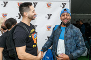 """Ryan Braun and Jaleel White attend a charity softball game to benefit """"California Strong"""" at Pepperdine University on January 13, 2019 in Malibu, California."""