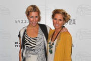 Designers Sarah-Jane Clarke (R) and Heidi Middleton pose as they attend the launch of the Range Rover Evoque on June 29, 2011 in Melbourne, Australia.