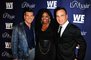 (L-R) TV personalities David Tutera, Kim Kimble, and celebrity hairstylist Jonathan Antin attend the WE tv's LA Hair Season 4 Premiere Party at Avalon on July 14, 2015 in Hollywood, California.