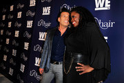 TV personalities David Tutera (L) and Kim Kimble attend the WE tv's LA Hair Season 4 Premiere Party at Avalon on July 14, 2015 in Hollywood, California.