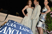 Amy Adams, Zack Snyder and Antje Traue attend the Lancia Cafe during the Taormina Filmfest 2013 on June 15, 2013 in Taormina, Italy.