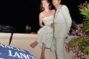 Amy Adams and Zack Snyder attend the Lancia Cafe during the Taormina Filmfest 2013 on June 15, 2013 in Taormina, Italy.