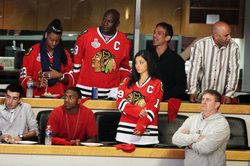 Chris Chelios Celebrities at NHL Finals Game 5