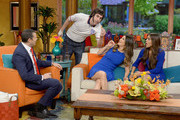 """Alan Tacher, Sacha Baron Cohen, Ana Patricia Gamez and Francisca Lachapel are seen on the set of Univision's """"Despierta America"""" to promote """"The Brothers Grimsby"""" >> at Univision Studios on March 7, 2016 in Miami, Florida."""