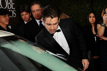 Colin Farrel Celebrities Sign Charity Car At 67th Annual Golden Globe Awards