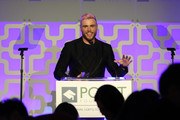 Gus Kenworthy accepts the Point Leadership Award during Celebrities Support LGBTQ Education at Point Honors Gala New York at The Plaza Hotel on April 08, 2019 in New York City.