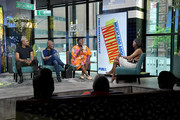 """(L-R) Actor Grantham Coleman, director Kenny Leon, and actress Danielle Brooks visit Build to discuss the """"Much Ado About Nothing"""" Public Shakespeare in the Park? at Build Studio on May 28, 2019 in New York City."""