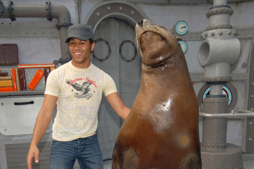 Corbin Bleu Celebs Hang Out at SeaWorld