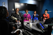 (EXCLUSIVE COVERAGE) (L-R) Bevy Smith interviews Tyler Perry, Crystal R. Fox, Bresha Webb, and Phylicia Rashad during their visit to SiriusXM Studios on January 13, 2020 in New York City.