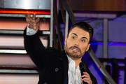 Rylan Clark at the 2nd celebrity eviction from the Big Brother house at Elstree Studios on January 15, 2016 in Borehamwood, England.