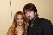 She hangs backstage with a shaggy Billy Ray Cyrus. - Jennifer Lopez's Celebrity Friends