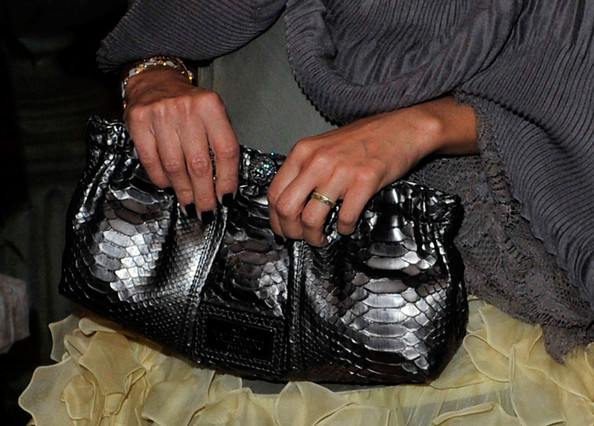 A view of actress Jessica Alba's purse at the 67th Venice Film Festival on August 31, 2010 in Venice, Italy.