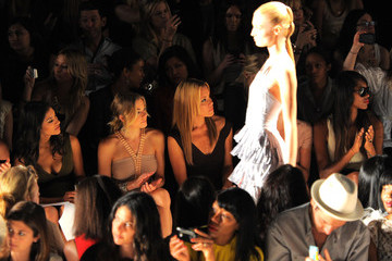 Michael Michelle Celebs at the Max Azria Show for Fashion Week NYC