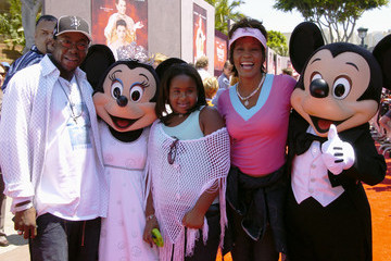 Whitney Houston Celebs Visit Disney Parks