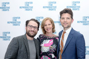 (L-R) Charlie Day, Nancy Northup and Adam Scott attend The Center for Reproductive Rights Inaugural Los Angeles Benefit at The London West Hollywood on March 6, 2019 in West Hollywood, California.