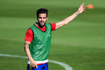 Cesc Fabregas Spain Training Session and Press Conference