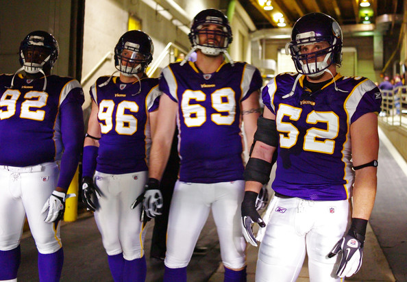 best service d00fd d5abe Chad Greenway and Brian Robison Photos Photos - New Orleans ...