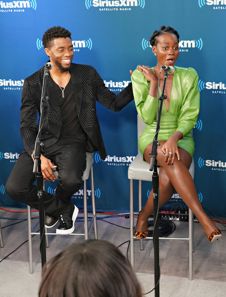 Chadwick Boseman Lupita Nyong O Chadwick Boseman And Lupita Nyong O Photos Siriusxm S Town Hall With The Cast Of Black Panther Zimbio