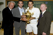 Pete Sampras and Rod Laver Photos Photo