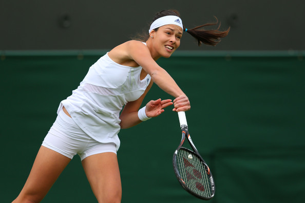 ana ivanovic in general views of wimbledon 39 s opening day zimbio. Black Bedroom Furniture Sets. Home Design Ideas