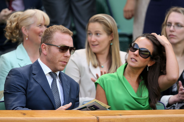 Sir Chris Hoy and Sarra Hoy attend the Gentlemen's Singles third round match between Richard Gasquet of France and Bernard Tomic of Australia on day six of the Wimbledon Lawn Tennis Championships at the All England Lawn Tennis and Croquet Club on June 29, 2013 in London, England.