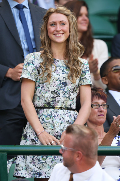 Laura Trott attends the Gentlemen's Singles third round match between Richard Gasquet of France and Bernard Tomic of Australia on day six of the Wimbledon Lawn Tennis Championships at the All England Lawn Tennis and Croquet Club on June 29, 2013 in London, England.