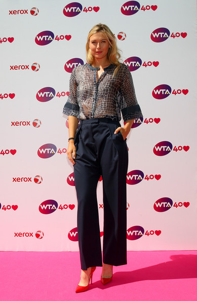 Maria Sharapova of Russia arrives for the WTA 40 Love Celebration during Middle Sunday of the Wimbledon Lawn Tennis Championships at the All England Lawn Tennis and Croquet Club on June 30, 2013 in London, England.