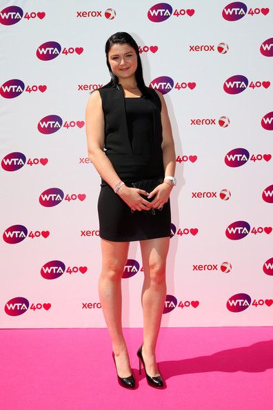 Dinara Safina arrives for the WTA 40 Love Celebration during Middle Sunday of the Wimbledon Lawn Tennis Championships at the All England Lawn Tennis and Croquet Club on June 30, 2013 in London, England.