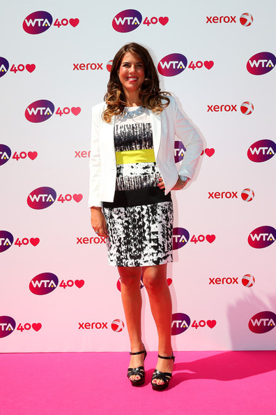 Jennifer Capriati arrives for the WTA 40 Love Celebration during Middle Sunday of the Wimbledon Lawn Tennis Championships at the All England Lawn Tennis and Croquet Club on June 30, 2013 in London, England.