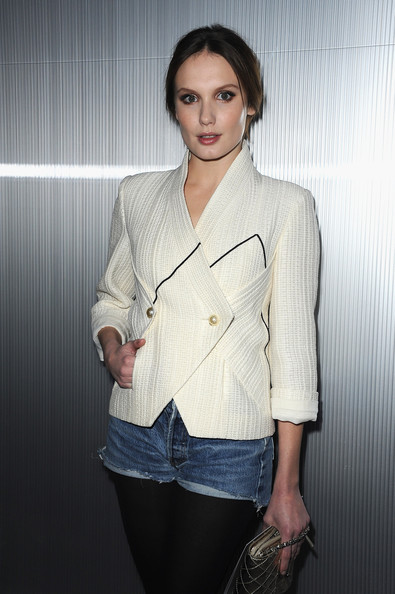 Ana Girardot attends the Chanel Haute-Couture Spring / Summer 2012 Show as part of Paris Fashion Week at Grand Palais on January 24, 2012 in Paris, France.