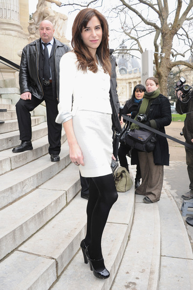 Caroline Sieber attends the Chanel Haute-Couture Spring / Summer 2012 Show as part of Paris Fashion Week at Grand Palais on January 24, 2012 in Paris, France.