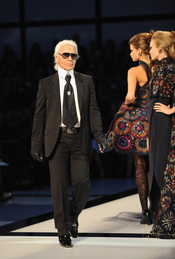 Karl Lagerfeld in Chanel: Paris Fashion Week Haute Couture ...