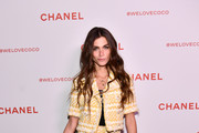 Elisa Sednaoui, wearing Chanel, attends a Chanel Party to celebrate the Chanel Beauty House and @WELOVECOCO at Chanel Beauty House on February 28, 2018 in Los Angeles, California.