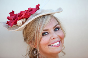 Chantelle Delaney Celebrities Attend Emirates Stakes Day