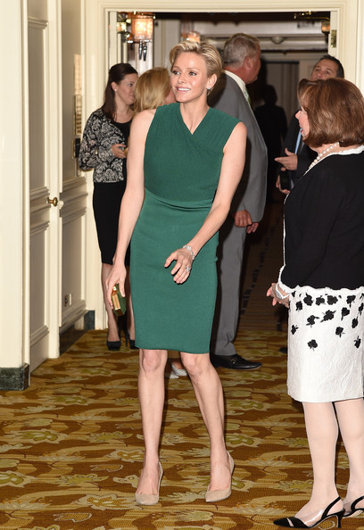 "Charlene Wittstock Her serene highness, Princess Charlene.of Monaco, is honored with this year's ""Champion of Children"" Award at the Colleagues' 26th Annual Spring Luncheon at the Beverly Wilshire Four Seasons Hotel on April 29, 2014 in Beverly Hills, California."