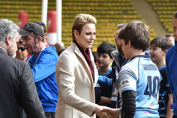 Charlene Wittstock Sainte Devote Rugby Tournament in Aid of Princess Charlene of Monaco Foundation