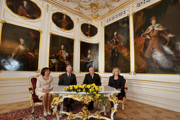 Livia Klausova Charles And Camilla Visit Czech Republic - Day 1