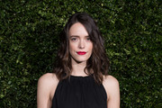 Stacy Martin attends the Charles Finch & Chanel pre-BAFTA's dinner at Loulou's on February 09, 2019 in London, England.