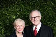 (L-R) Glenn Close and Jonathan Pryce attend the Charles Finch & Chanel pre-BAFTA's dinner at Loulou's on February 09, 2019 in London, England.
