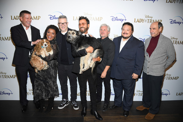 """Cinema Society Hosts Special Screening Of Disney+'s """"Lady And The Tramp"""" - Red Carpet [lady and the tramp,event,fashion,award,premiere,monte,charlie bean,justin theroux,yvette nicole brown,rose,f,l-r,cinema society hosts special screening of disney,red carpet]"""