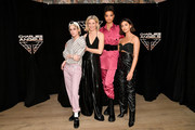 "(L-R) Kristen Stewart, Elizabeth Banks, Ella Balinska, and Naomi Scott attend the ""Charlie's Angels"" photo call at the Whitby Hotel on November 07, 2019 in New York City."
