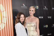 Drew Barrymore and Charlize Theron attend the Africa Outreach Project Fundraiser hosted by Charlize Theron at The Africa Center on November 12, 2019 in New York City.
