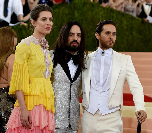 'Manus x Machina: Fashion in an Age of Technology' Costume Institute Gala [manus x machina: fashion in an age of technology costume institute gala,fashion,suit,yellow,event,street fashion,outerwear,formal wear,blazer,fashion design,premiere,alessandro michele,princess charlotte casiraghi,jared leto,r,c,monaco,italian,new york,l]