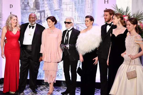 Rose Ball 2018 To Benefit The Princess Grace Foundation In Monaco [event,fashion,formal wear,suit,dress,tuxedo,ceremony,premiere,haute couture,carpet,caroline of hanover,alexandra of hanover,charlotte casiraghi,pierre casiraghi,beatrice casiraghi,monaco,sporting monte-carlo,princess grace foundation,3l-r,rose ball]