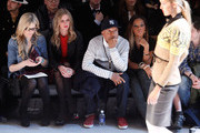 Ali Wise, Nicky Hilton, Russell Simmons and Angela Simmons attend the Charlotte Ronson Fall 2012 fashion show during Mercedes-Benz Fashion Week at The Stage at Lincoln Center on February 10, 2012 in New York City.